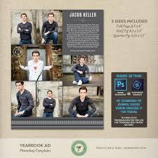 Senior Yearbook Ad Photoshop Templates Graduation Ad High School College Middle School Tribute Dedication Full Page Half 2019 Y18