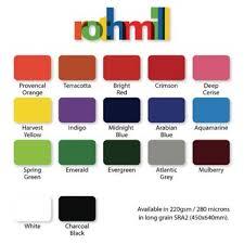 Black Colour Chart Paper Rothmill A4 Brilliant Colour Card Charcoal Black