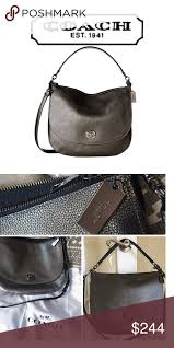 Coach Turnlock pebbled leather hobo, NWB Beautiful polished pebbled leather  with a soft sheen add