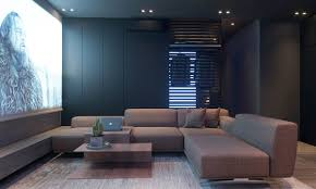 Dark Moody Bachelor Pad Design: 2 Single Bedroom L-Shaped Examples  [Includes Floor Plans]