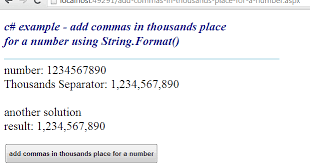 C How To Format A String To Add Commas In Thousands Place
