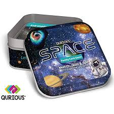 qurious e stem flash card game explore match quiz spin through