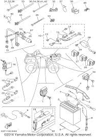 yamaha atv parts 1999 grizzly yfm600fwal electrical 2 diagram