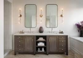 wood vanity bathroom