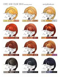 Copic Hair Color Chart Give Me A Head With Hair Conquering Copic Copic