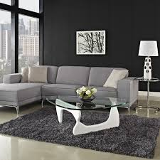 transpa glass round contemporary coffee tables with white leg on dark grey livng room rug furniture for diffe living nuances modern and end table
