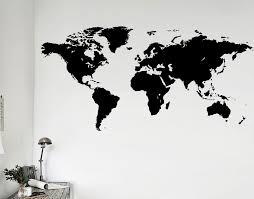 world map wall art nz