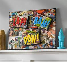 use comic books or color copieod podge to make this diy