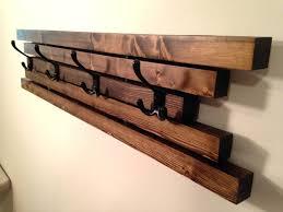 Wall Mounted Wood Coat Rack Charming Rustic Coat Hooks Cdbossington Interior Design 17