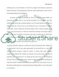 the effect of media internet on children behavior essay text