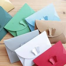 10 Pcs Lot Colorful Vintage Candy Envelopes Paper Envelope Vertical