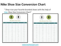 Nike Air Max Thea Size Chart