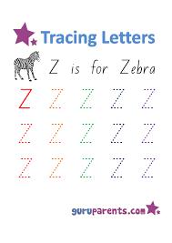 Letter Z Worksheets | guruparents