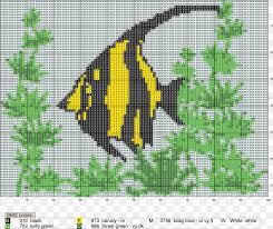 Cross Stitch Embroidery Fish Pattern Png 2354x1986px