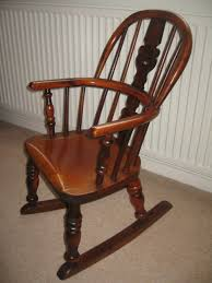 wood vintage childs rocking chair