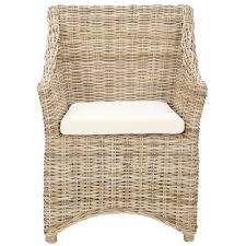 safavieh rural woven dining st thomas indoor wicker washed out brown wing back arm chair free today 13968645