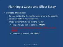 cause and effect thesis examples consumer reports best buy air cause effect essay cause