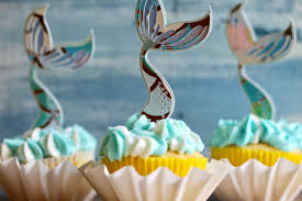 Simple Mermaid Tail Cupcake Toppers With Cricut Everyday Party