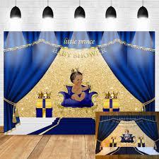 <b>Mehofoto</b> Purple Gold <b>Baby Shower Backdrop</b> Ethnic Little Princess ...