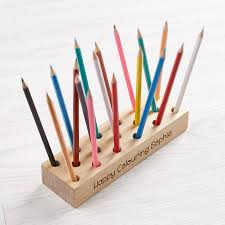 Personalised Wooden Pencil Holder