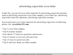 How To Write A Cover Letter For A Copywriting Job Advertising Copywriter Cover Letter