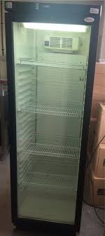 tefcold glass door display fridge