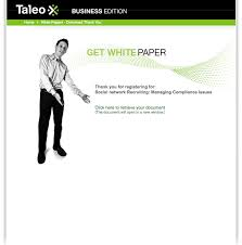 Inbound Marketing Lead Generation: Taleo - Baycreative