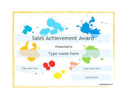 Printable Award Template Types Of Achievement Awards Certificate