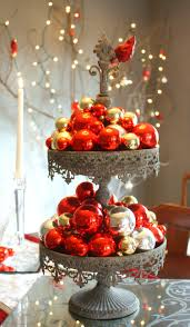 Amusing Christmas Table Arrangements With Red Fruits And Candys At Unique  Fruit Holder And White Christmas Themes Decoration
