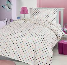 polka dot 100 brushed soft cotton thermal flanelette sheet set fitted flat pillowcases cot bed toddler bed 70 x 140 cm