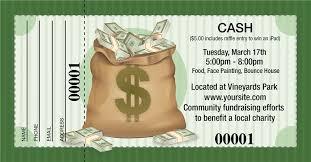Cash Raffles Large Cash Prize Raffle Tickets