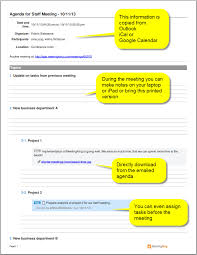 How To Write An Agenda Of A Meeting Meeting Agenda Software Create An Agenda With Meetingking