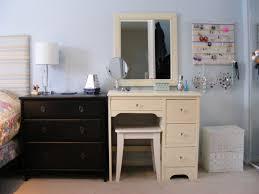 white corner dressing table and stool unique hardscape design
