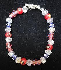 Glass and Austrian Crystal Bead Bracelet   Etsy