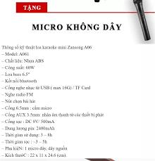 Loa Karaoke Di Động Mini, Loa Kéo Karaoke Zansong A061 Kèm Mic Không Dây  Siêu Hút, máy trợ giảng zansong, Loa không dây bluetooth kiêm máy trợ giảng Zansong  A061