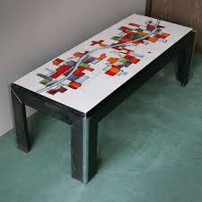 Great Ceramic Tile Top Coffee Table From Adri Belgique 8. $1,037.00. Price Per  Piece