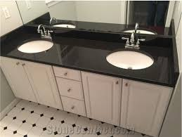 high quality black engineered quartz stone for bathroom tops vanity tops countertops made from yunfu guangdong custom sizes available