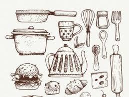 Kitchen Utensils Sketchy Drawings Free Vector free vectors UI