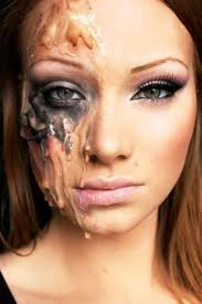 half face makeup ideas more