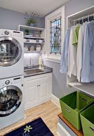 Laundry Room: White Laundry Room Design With Small Space Solutions - Sofa  And Chairs
