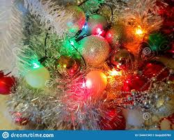 Garland With Red And White Lights White Christmas Decoration Colorful White Balls Silver
