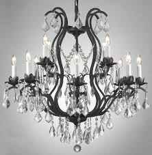 top 57 wonderful black chandelier with red crystals crystal replacement parts remarkable wrought iron chandeliers unique