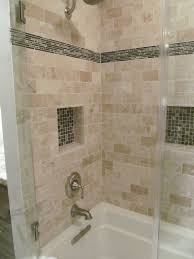 travertine tile tub surround. Exellent Surround The Shower Surround Is A Travertine Tile Accent Tile Was The  Inspiration For Entire Space On Travertine Tile Tub Surround