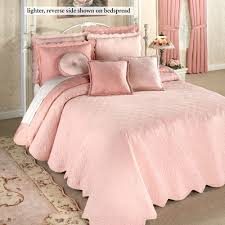 Evermore Coral Blush Reversible Quilted Bedspread Bedding & Evermore Grande Bedspread Coral Blush Adamdwight.com
