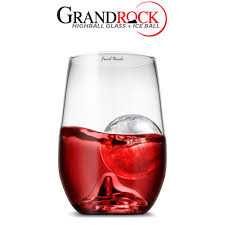 grand rock highball glass ice ball mould