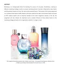 the marketing environmental factors and an illustrative sample for th  the marketing environmental factors and an illustrative sample for their impacts that based on the uk fragrances industry