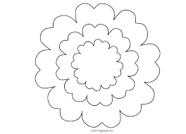 Large Paper Flower Pattern Paper Flower Template Printable Free Petal Template To Make Giant