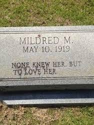 Mildred Rhodes (1919-1998) - Find A Grave Memorial