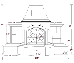 outdoor fireplace dimensions edgoode fireplace dimensions