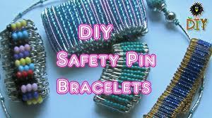 Beaded Safety Pin Designs Diy Safety Pin Bracelets How To Make Safety Pin Bracelet Tutorial